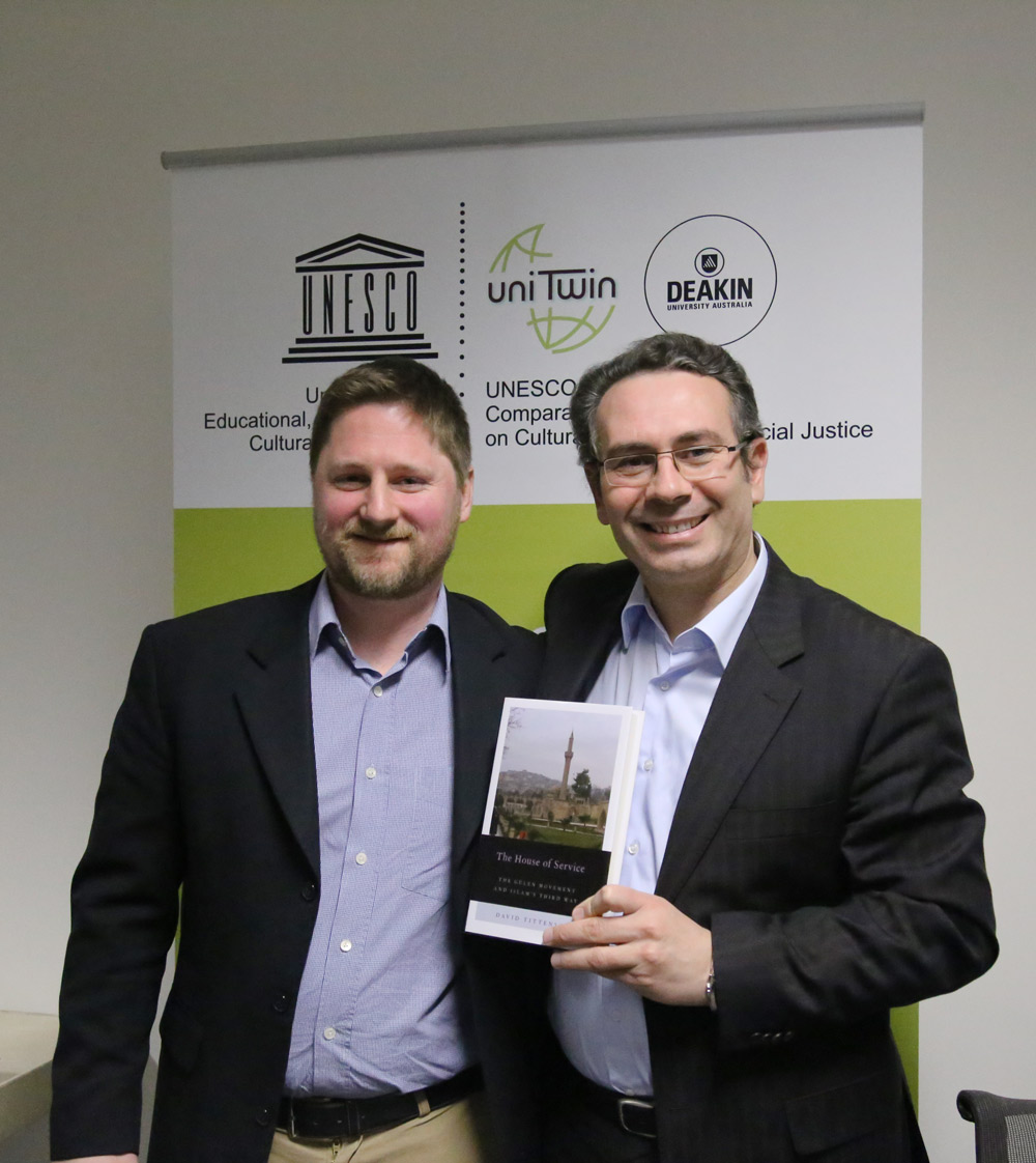 Author David Tittensor with AIS Executive Director Ahmet Polat